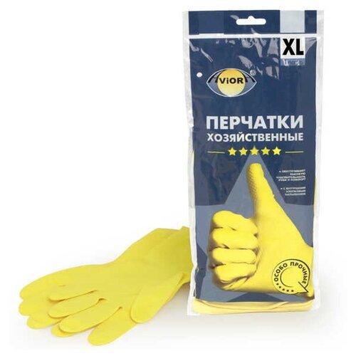 Перчатки Aviora хозяйственные 5 звезд, 1 пара, размер XL, цвет желтыйПерчатки<br>