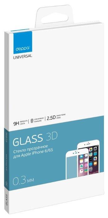 Защитное стекло Deppa GLASS 61996/61997 для Apple iPhone 6/6S