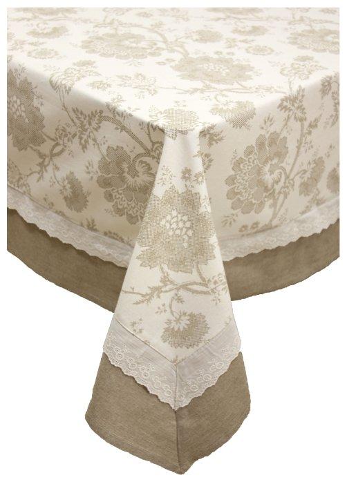 комплект столовый скатерть 150х150+260х150+12 салфеток белый, арт.9шс-152-2-010101