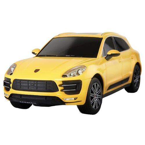 Купить Легковой автомобиль Rastar Porsche Macan Turbo (71800) 1:24 19 см черный/желтый, Радиоуправляемые игрушки