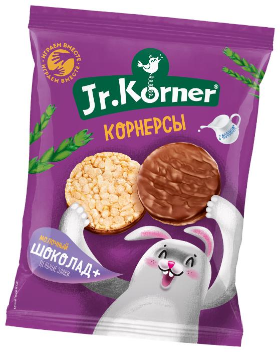 Мини хлебцы рисовые Jr.Korner Молочный шоколад+цельные злаки 60 г