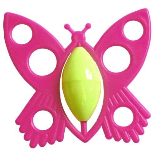 Погремушка Аэлита Бабочка розовый аэлита погремушка ромашка цвет розовый