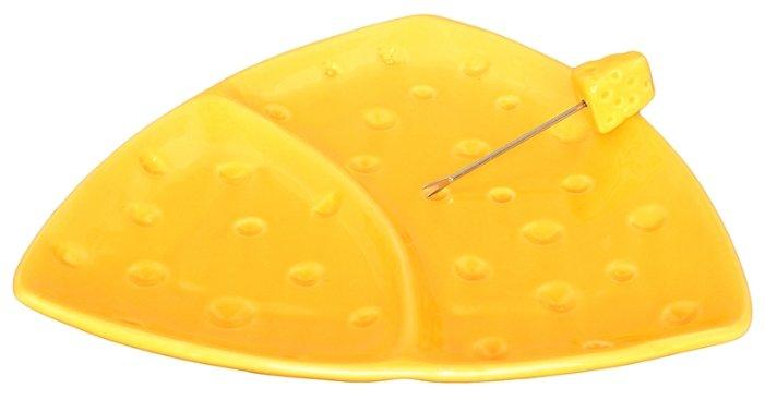 Elan gallery Тарелка для сыра двухсекционная Сыр