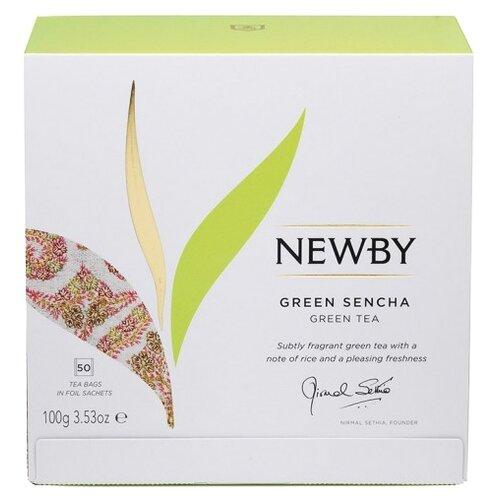 Чай зеленый Newby Green sencha в пакетиках, 50 шт.