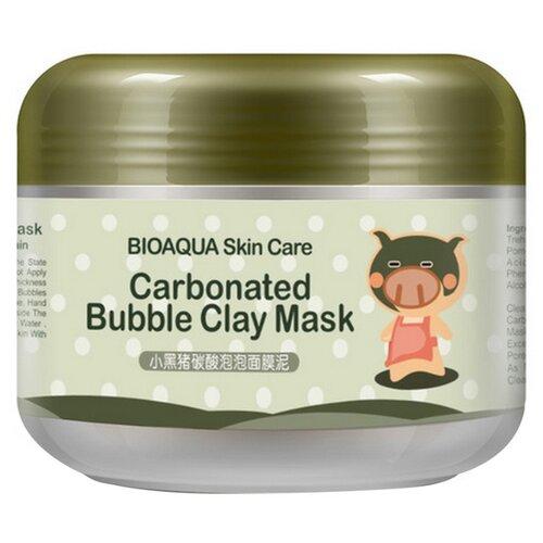 Фото - BioAqua очищающая кислородная пузырьковая маска для лица на основе глины, 100 г bioaqua питательная коллагеновая маска pigskin collagen с кислородом 100 г