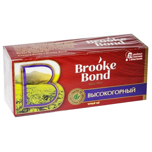 Чай черный Brooke Bond Высокогорный в пакетиках , 25 шт.