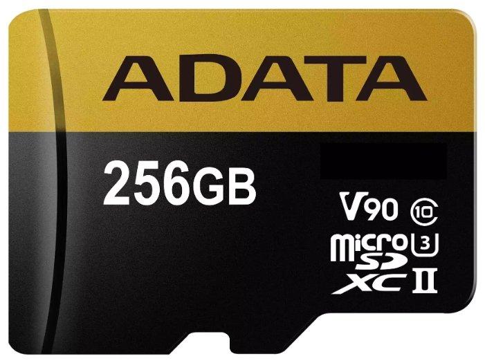 ADATA Карта памяти ADATA Premier ONE microSDXC UHS-II U3 Class 10 + SD adapter