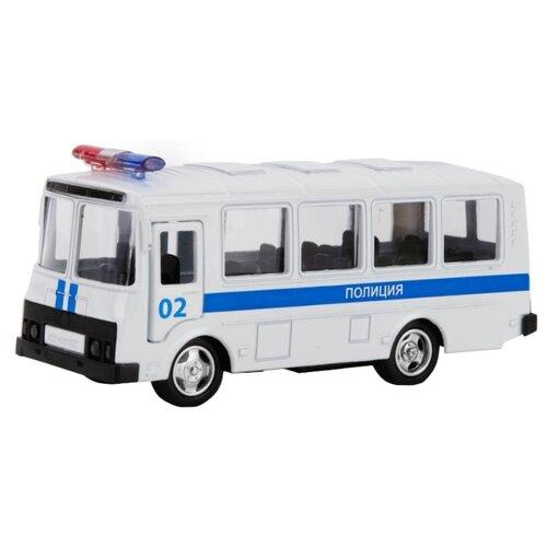 Купить Автобус ТЕХНОПАРК ПАЗ 3206 Полиция (X600-H09140-R) белый, Машинки и техника