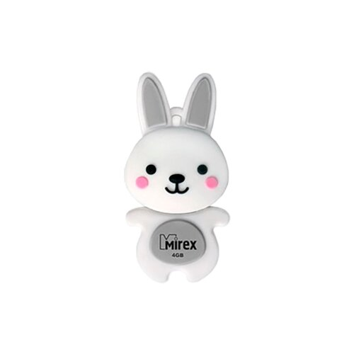 Фото - Флешка Mirex RABBIT 4GB серый creative christmas bear rabbit decoration window wall stickers