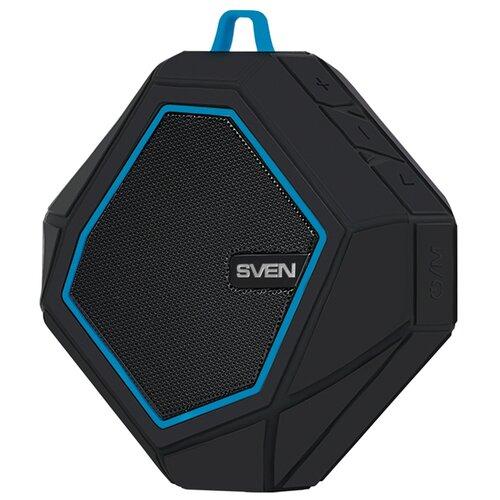 Портативная акустика SVEN PS-77, черный / синий портативная акустика sven ps 230 черный