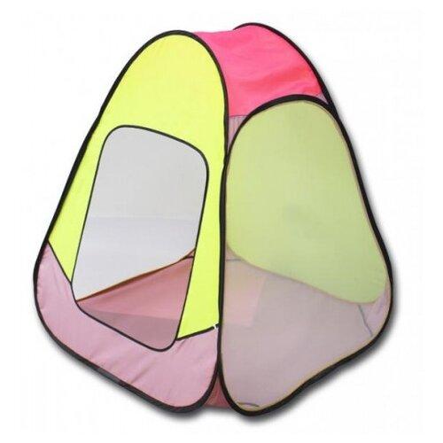 Фото - Палатка Belon familia ПИ-004КМ-ТФ Эконом Конус-Мини желтый с розовым кольцо vg 0100809218585 тф