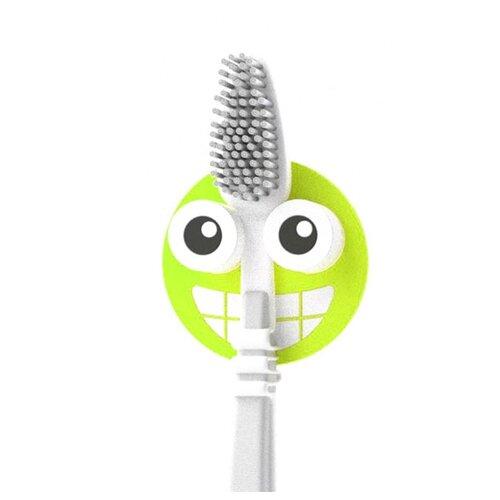 Держатель balvi Emoji для зубной щётки зеленый держатель для зубной пасты и щеток balvi kitty