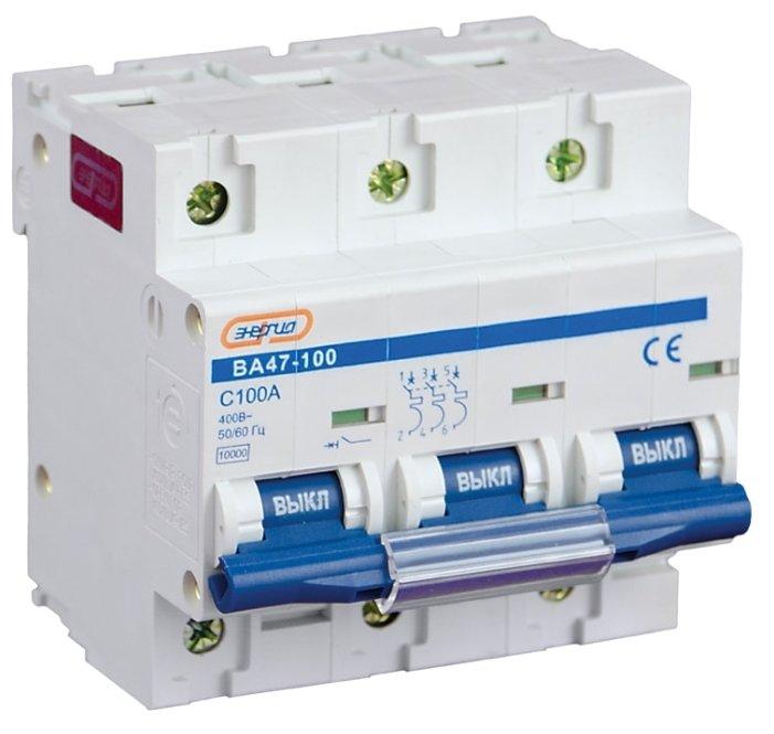 Автоматический выключатель Энергия NC100H (ВА 47-100) 3P (C) 10kA