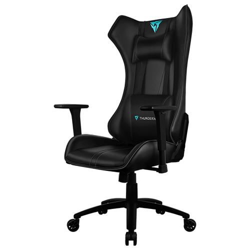 Компьютерное кресло ThunderX3 UC5 Hex игровое, обивка: искусственная кожа, цвет: черный кресло компьютерное игровое thunderx3 tgc12 bg черный зеленый 4710700959572