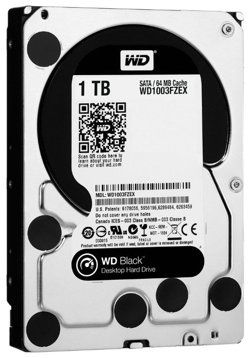 Жесткий диск Western Digital WD 1Tb Black WD1003FZEX