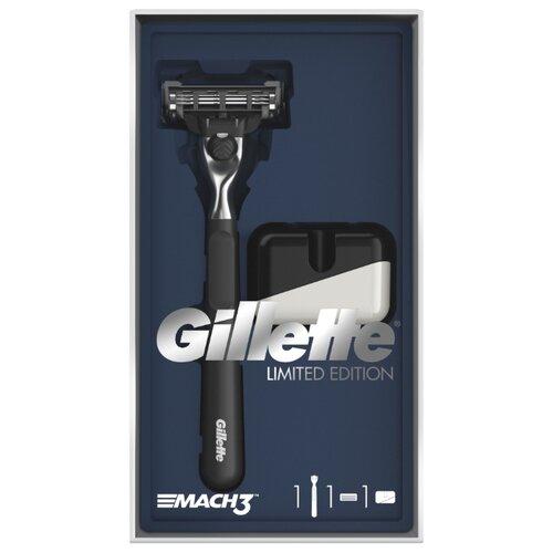 Фото - Набор Gillette подарочный: подставка, бритвенный станок Mach3 бритвенный станок mach3 r717cr