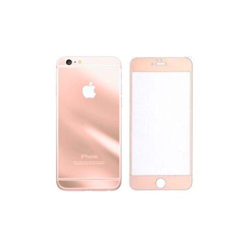 Защитное стекло CaseGuru зеркальное Front & Back для Apple iPhone 6/6S Logo rose gold