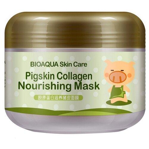 Фото - BioAqua Питательная коллагеновая маска Pigskin Collagen с кислородом, 100 г bioaqua питательная коллагеновая маска pigskin collagen с кислородом 100 г