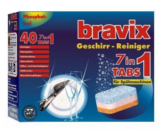 Bravix 7 в 1 таблетки для посудомоечной машины