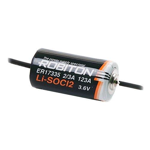 Фото - Батарейка ROBITON ER17335-AX с аксиальными выводами PH1, 1 шт. батарейка robiton er26500 dp с коннектором ph1 1 шт