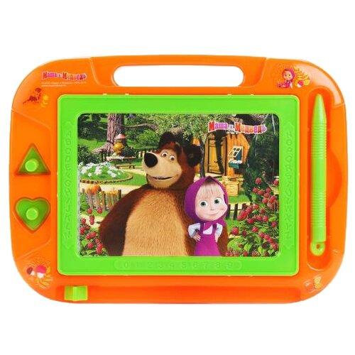 Купить Доска для рисования детская Играем вместе Маша и медведь (HS8006KMB) зеленый/оранжевый, Доски и мольберты