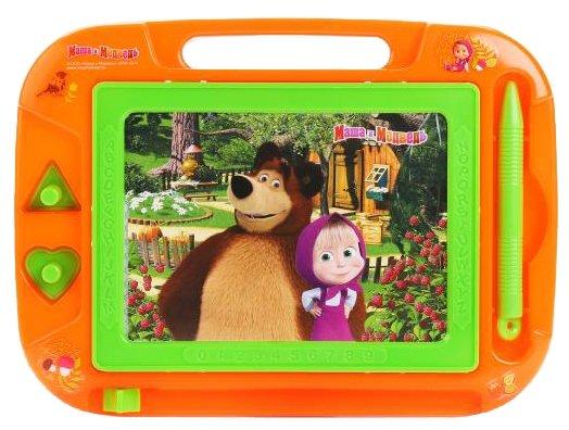 Доска для рисования детская Играем вместе Маша и медведь (HS8006KMB)