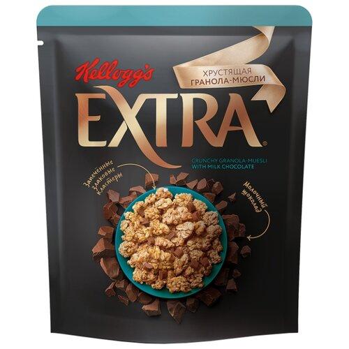 Гранола Kellogg's хлопья с молочным шоколадом, дой-пак, 300 г гранола verestovo хлопья банан малина воздушные шоколадные шарики дой пак 300 г