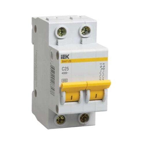 Автоматический выключатель IEK ВА 47-29 2P (C) 4,5kA 6 А выключатель автоматический курскэаз ва51 35м1 340010 100а 690ac ухл3 108310 146749