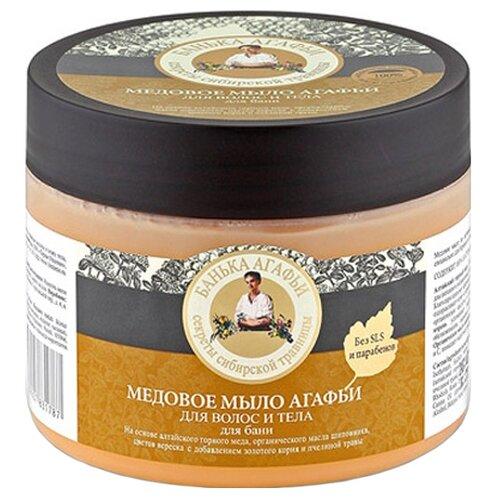 Мыло мягкое Рецепты бабушки Агафьи Банька Агафьи Медовое 300 млМыло<br>
