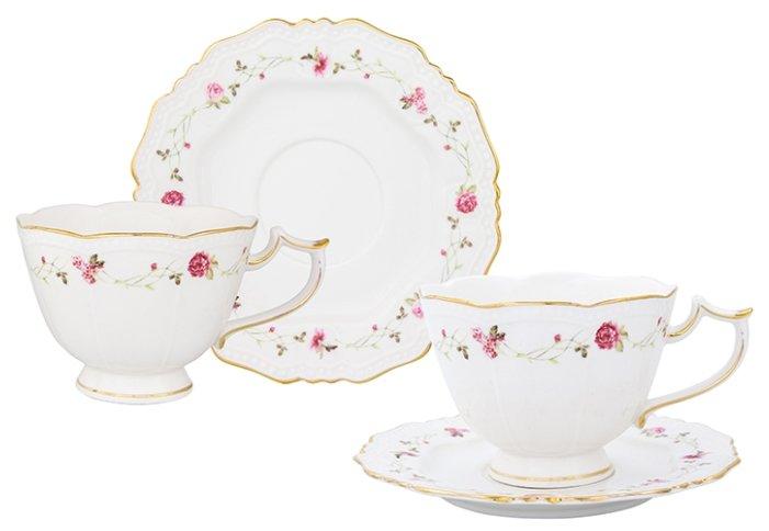 Elan gallery Чайная пара Нежные розы