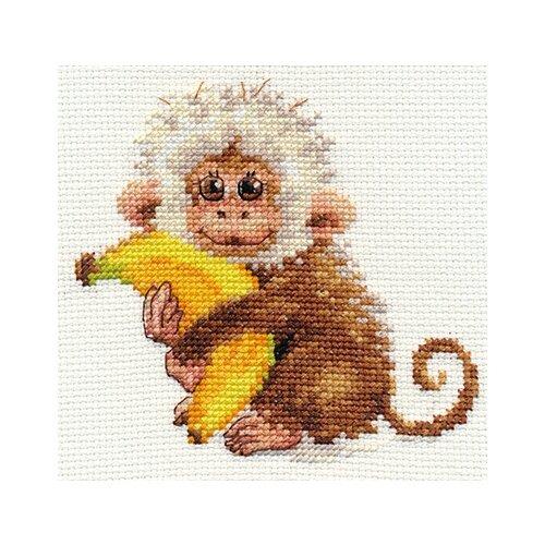 Купить Алиса Набор для вышивания крестиком Обезьянка 12 х 11 см (0-127), Наборы для вышивания