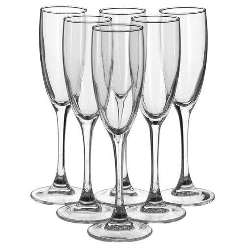цена на Luminarc Набор фужеров для шампанского Signature 6 шт 170 мл H8161