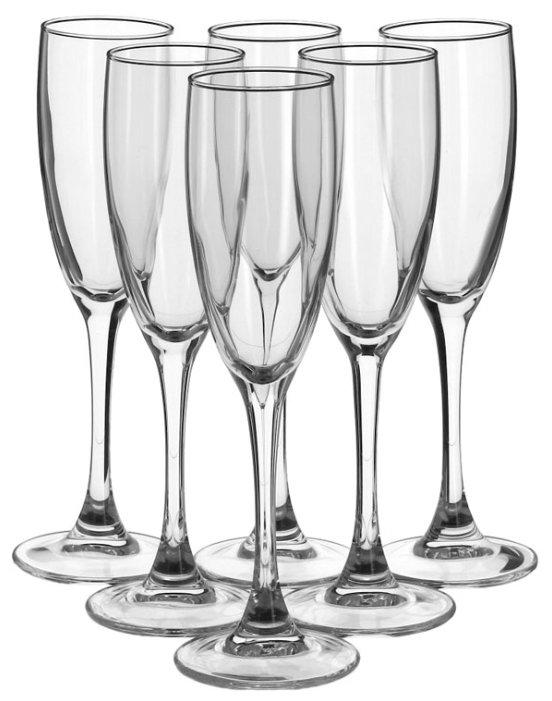 Бокал для шампанского Luminarc Signature H8161, 6 шт, 170 мл