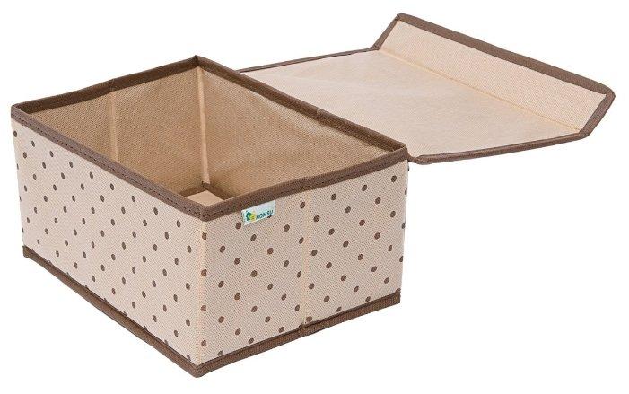 HOMSU Коробка для хранения вещей с крышкой (25х19х13 см)
