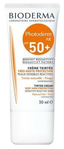 Солнцезащитный крем для лица SPF50+ Bioderma Photoderm AR Tinted Cream, 30 мл