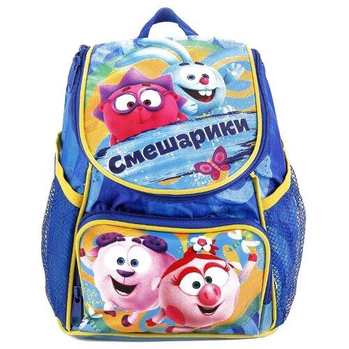 Купить Играем вместе Дошкольный рюкзак Смешарики средний с передним карманом (EBP18-SMESH) синий, Рюкзаки, ранцы