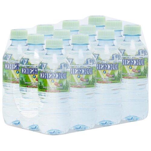 Вода минеральная Сенежская негазированная, ПЭТ, 12 шт. по 0.33 лВода<br>