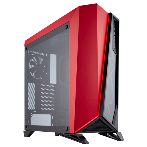 Компьютерный корпус Corsair Carbide Series SPEC-OMEGA Tempered Glass Black/red компьютерный корпус corsair carbide series spec 06 tg white