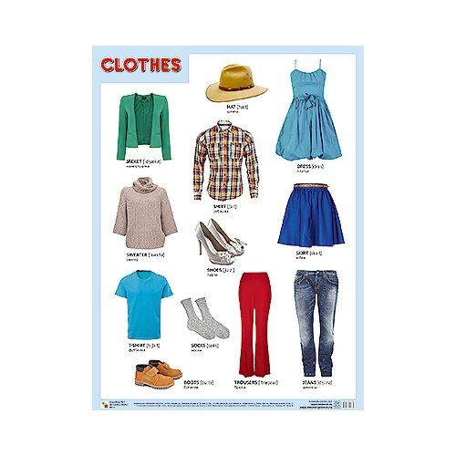 Плакат Мозаика-Синтез CLOTHES (Одежда) недорого