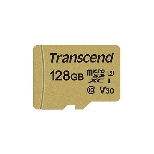 Фото - Карта памяти Transcend TS128GUSD500S карта памяти transcend compctflash 128gb ts128gcf1000