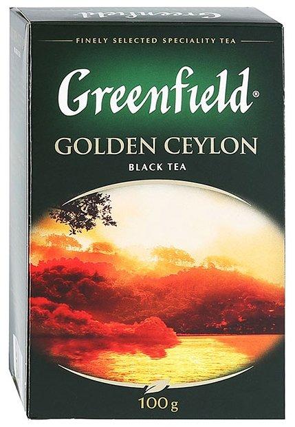 Чай GREENFIELD Golden Ceylon 100г. листовой черный
