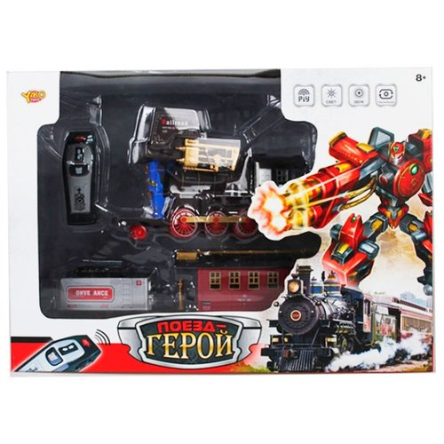 Купить Трансформер Shantou Gepai Поезд-герой M6546 черный, Роботы и трансформеры