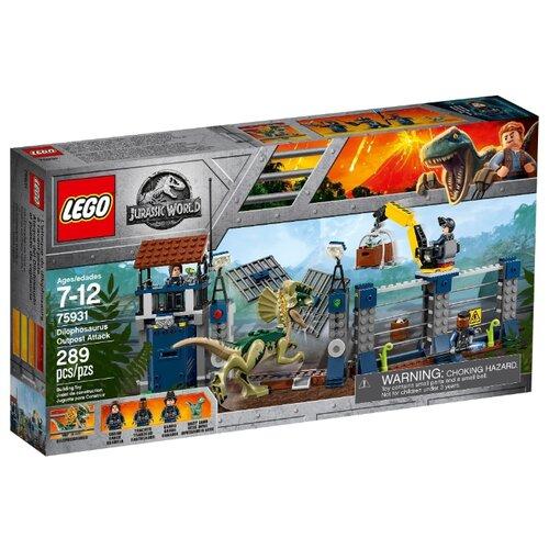 Конструктор LEGO Jurassic World 75931 Нападение дилофозавра на сторожевой пост lego нападение на планетуэндор разноцветный