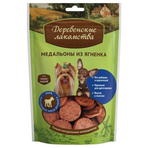 Лакомство для собак Деревенские лакомства для мини-пород Медальоны из ягненка, 55 г