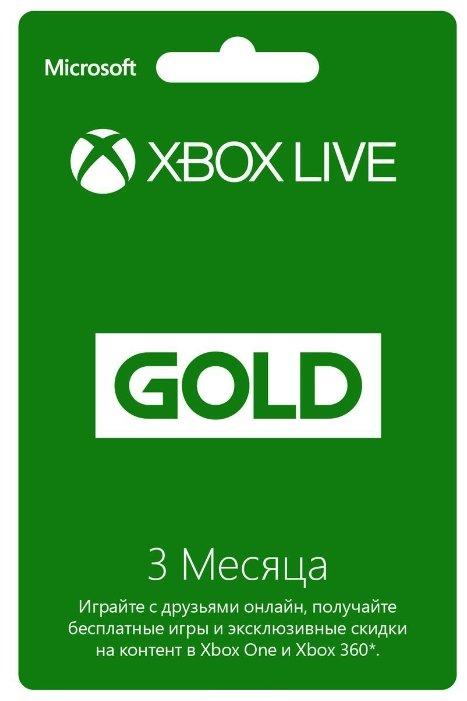 Microsoft Карта оплаты Xbox LIVE GOLD 3 месяца