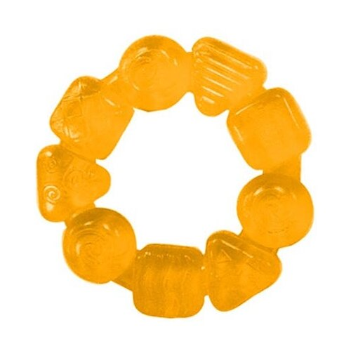 Прорезыватель Bright Starts Карамельный круг оранжевый bright starts набор прорезывателей трио