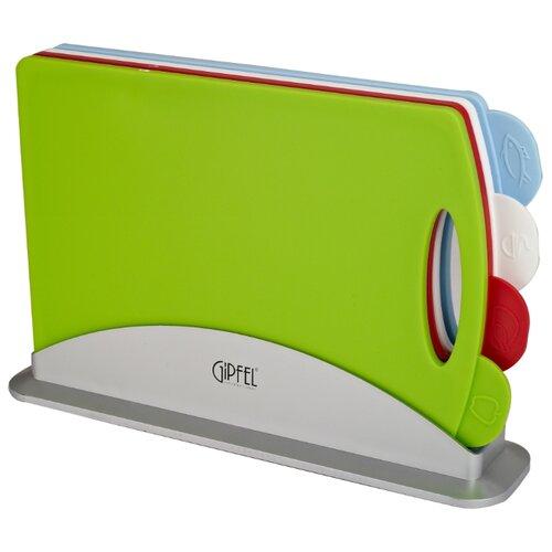 цена на Набор разделочных досок GIPFEL 3136 CORTA 33,2х 22х7,8 см (4 шт.) зеленый/белый/красный/голубой