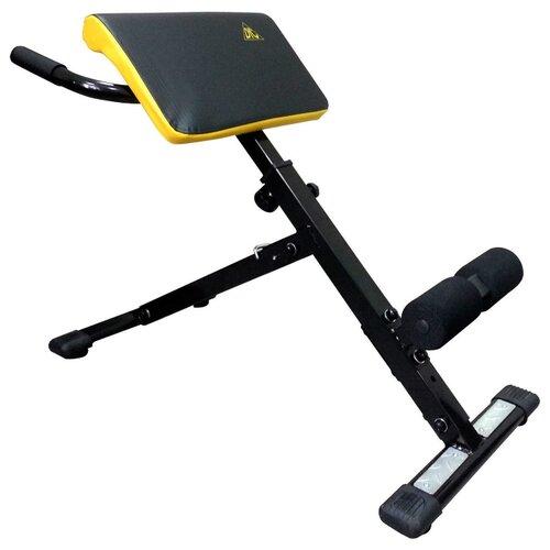 Купить со скидкой Наклонная гиперэкстензия DFC SJ1005 черный / желтый