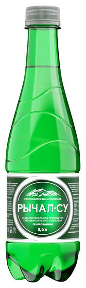 Минеральная лечебно-столовая вода Рычал-Су газированная, ПЭТ