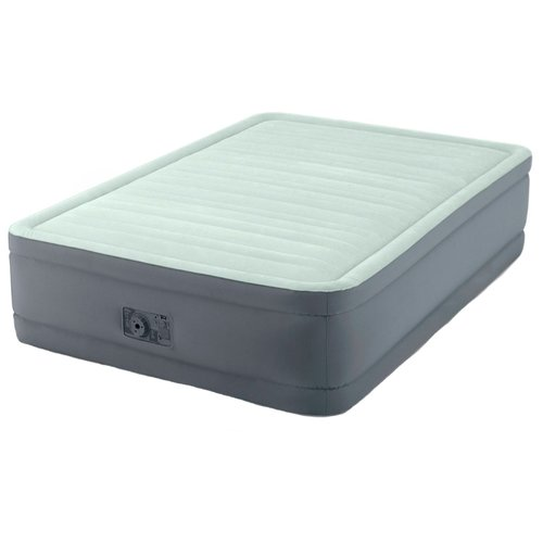 Фото - Надувная кровать Intex PremAire Elevated Airbed (64904) светло-темно-серый надувной матрас intex mid rice airbed 64116 светло темно серый